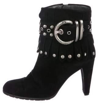 Stuart Weitzman Suede Embellished Boots