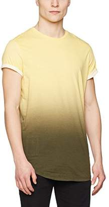 Religion Men's Gradient Stripe T-Shirt, (Yellow/Khaki), Small