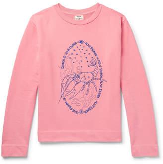 Acne Studios Oslavi E Crayfish Embroidered Loopback Cotton-Jersey Sweatshirt