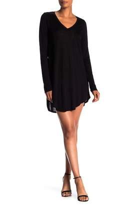 H By Bordeaux Long Sleeve V-Neck Pocket Dress