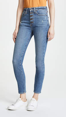Alice + Olivia AO.LA by High Rise Button Fly Jeans