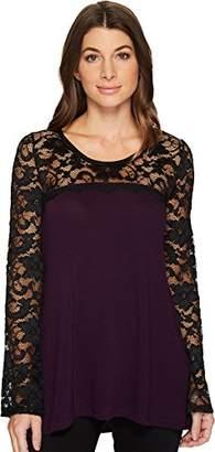 Karen Kane Women's Lace Sleeve Sweater