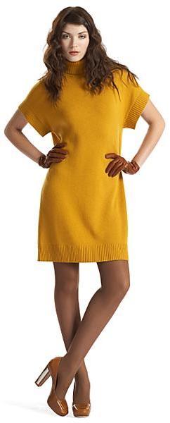 Michael Kors Cashmere Turtleneck Tunic Dress
