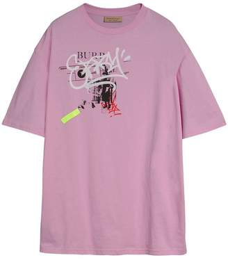 Burberry Graffitied Ticket Print Cotton T-shirt