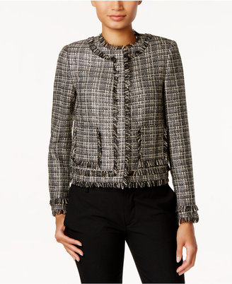 Tommy Hilfiger Tweed Fringe-Trim Blazer $139 thestylecure.com