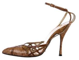 Dolce & Gabbana Pointed-Toe Ankle-Strap Pumps