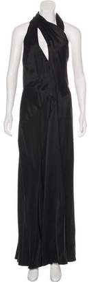 J. Mendel Silk-Blend Halter Dress w/ Tags