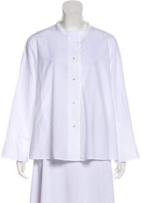 Oska Long Sleeve Button-Up Blouse