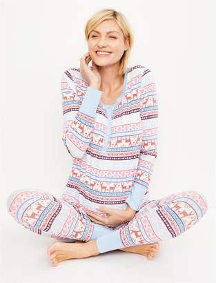 Motherhood Maternity Fairisle Maternity Pajama Set