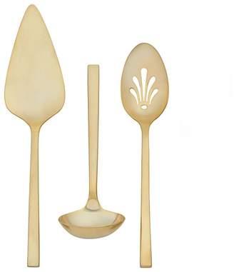 Vera Wang Polished Gold 3-Piece Serving Set