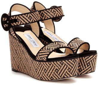 Jimmy Choo Abigail 100 platform wedge sandals