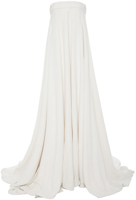 Brandon Maxwell Crepe Silk Gown Jumpsuit