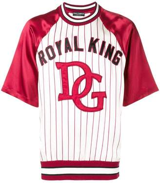Dolce & Gabbana baseball-style raglan top