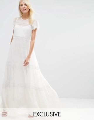 Needle & Thread Chiffon Lace Maxi Dress $279 thestylecure.com