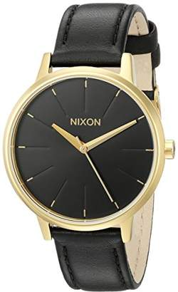 Nixon Women's A108513 Kensington Gold-Tone Stainless Steel Watch with Leather Band