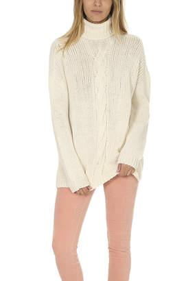 Majestic Filatures Cableknit Turtleneck Sweater