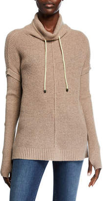 LISA TODD Well Traveled Cashmere Funnel-Neck Sweater