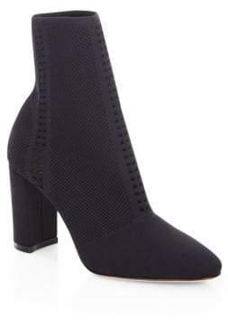 Gianvito Rossi Vires Knit Block Heel Booties