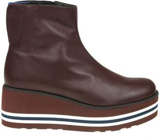 Paloma Barceló Palomitas Boots In Leather Color Bordeaux