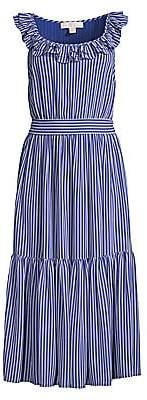 MICHAEL Michael Kors Women's Mini Stripe Railroad Midi Dress
