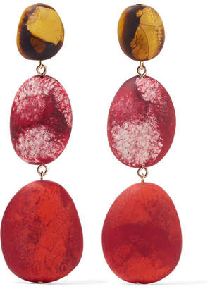 Dinosaur Designs River Rock Resin Earrings - Red