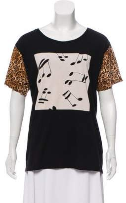 Saint Laurent Contrasted Music Note Top