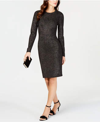 Vince Camuto Button-Detail Sheath Dress