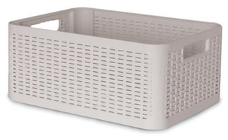BEIGE Superio Storage Box, 20 QT., Palm Luxe Collection