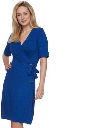 Apt. 9 Women's Grommet Faux-Wrap Dress