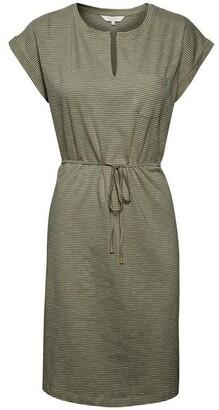 Part Two - Mabel Khaki Stripe Dress - X Small