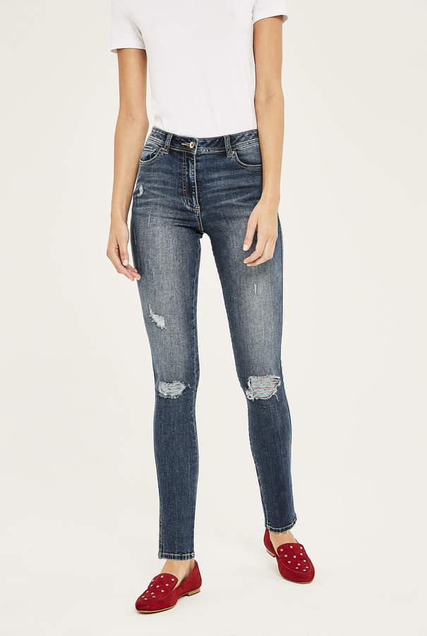 Long Tall Sally Damaged Skinny Jean