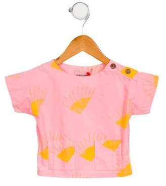 Bobo Choses Girls' Printed Short Sleeve Top w/ Tags