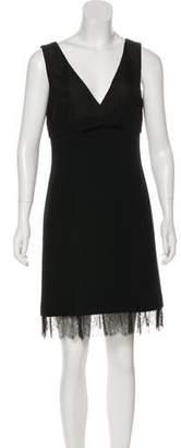 Michael Kors Virgin Wool Lace-Trimmed Dress