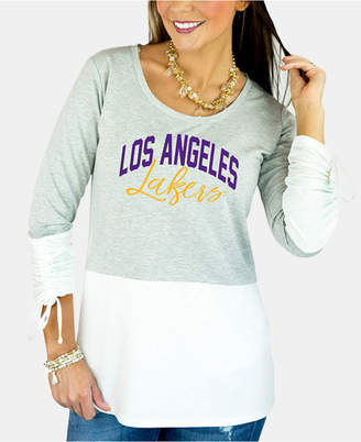 Couture Gameday Women Los Angeles Lakers Embellished Tunic Top
