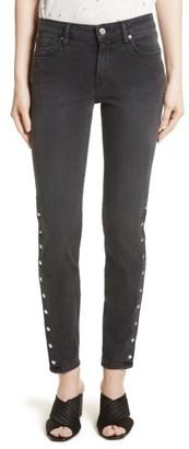 Women's Iro Biba Slim Straight Leg Ankle Jeans $294 thestylecure.com