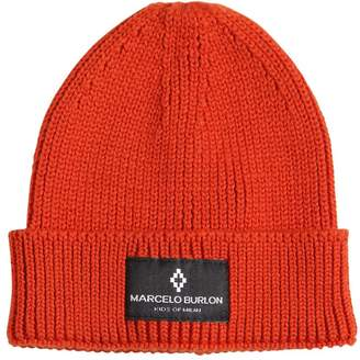 Marcelo Burlon County of Milan WOOL BLEND KNIT BEANIE HAT