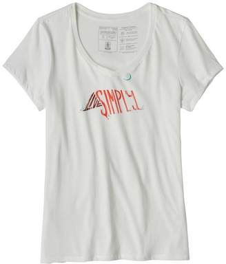 Patagonia Women's Live Simply® Sleeping Out Organic V-Neck T-Shirt