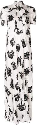 Miu Miu long floral jacquard dress