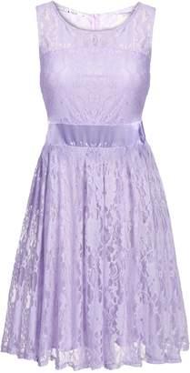 ANGVNS Elegant Women Sleeveless Flare Fit Sundress Dress