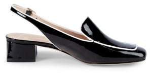 3bdcd5b565e Kate Spade Sahiba Patent Leather Slingback Loafers
