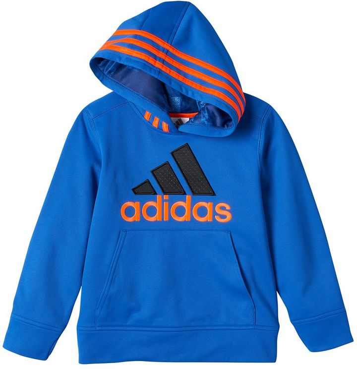 Toddler Boy adidas Fleece-Lined Classic Embroidered Logo Pullover Hoodie