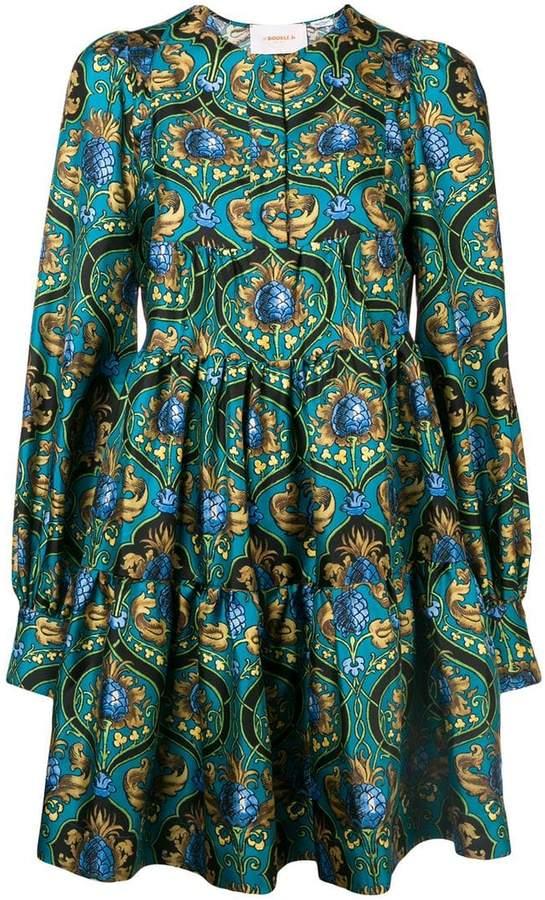 La Doublej printed peasant dress