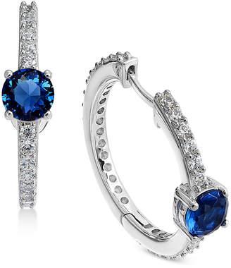 """Macy's Danori Silver-Tone Crystal 2/3"""" Huggie Hoop Earrings, Created for"""