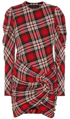 Alexandre Vauthier Plaid wool-blend minidress