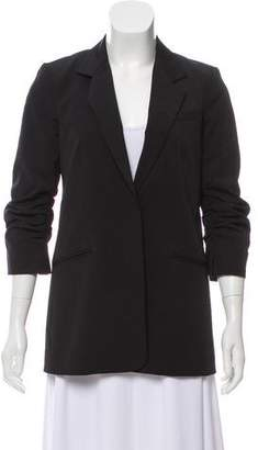 Elizabeth and James Ruched Sleeve Blazer