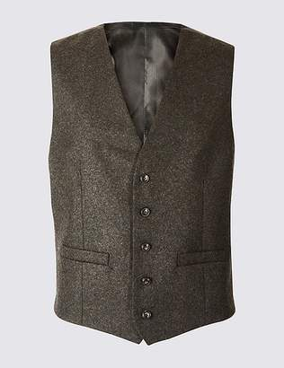 Marks and Spencer Textured Tailored Fit Waistcoat