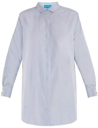 MiH Jeans Oversized Cotton Shirt - Womens - Blue