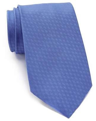 Calvin Klein Lattice Solid Silk Tie