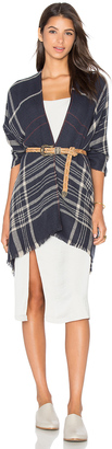 Michael Stars Plaid To See You Cape $78 thestylecure.com