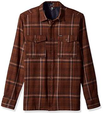 Volcom Men's Bodhi Double Pocket Flannel Long Sleeve Shirt